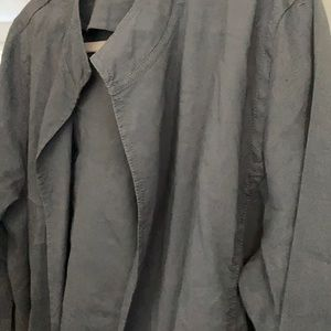 Eileen Fisher Jackets & Coats - Eileen fisher layering light jacket do grey sz L